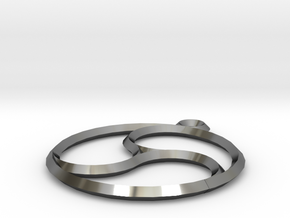 Trefoil Pendant in Fine Detail Polished Silver