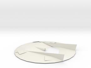 Flying Disc Model in White Natural Versatile Plastic