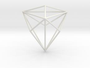 TriakisTetrahedron 70mm in White Natural Versatile Plastic