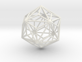 TriakisIcosahedron 70mm in White Natural Versatile Plastic