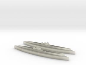 U-862 (Type IXD2 U-Boat) 1/1800 x2 in Transparent Acrylic