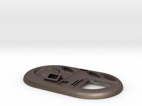 Vortex Manipulator with round button only Doctor W in Polished Bronzed Silver Steel