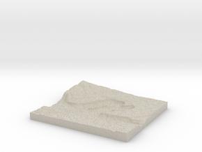 Model of Dry Falls Junction in Natural Sandstone