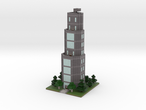 60x60 Tower01 (mix trees) (2mm series) in Full Color Sandstone