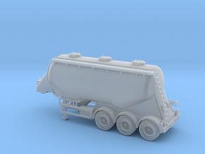 N scale 1/148 Feldbinder flour/grain trailer tank in Frosted Ultra Detail