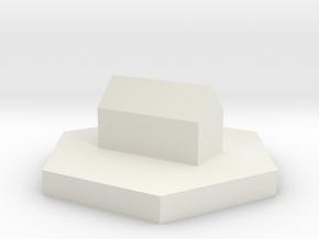 Settlement 90mm in White Natural Versatile Plastic