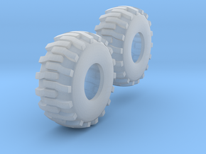 1:64 scale Industrial Tires in Smooth Fine Detail Plastic