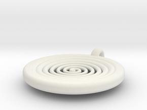 spiral pendant III in White Natural Versatile Plastic