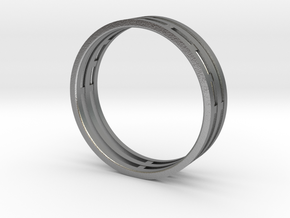 Nice modern ring : symmetrie at work in Natural Silver