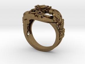 Botanica Mechanicum Ring SIZE 6 in Natural Bronze