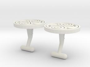 Cufflinks of Rassilon  in White Natural Versatile Plastic