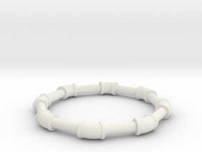 0 75 ell 45 in White Natural Versatile Plastic