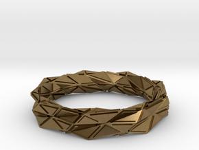 Facette (S) in Natural Bronze