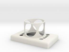 Stop Button Shroud MPH in White Natural Versatile Plastic