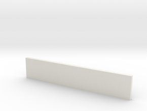 Sluice Wall in White Natural Versatile Plastic