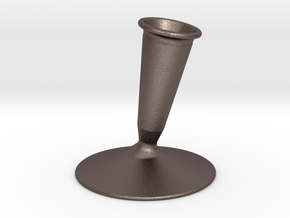 (fountain) pen holder in Polished Bronzed Silver Steel