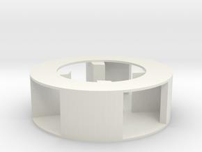 Mini Siren Impeller- Single Pitch in White Natural Versatile Plastic