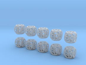Gear Dice - D6 10 Pack in Smooth Fine Detail Plastic