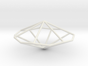 HeptagonalTrapezohedron 70mm in White Natural Versatile Plastic