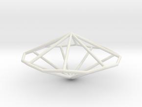 OctagonalTrapezohedron 70mm in White Natural Versatile Plastic