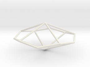 PentagonalTrapezohedron 70mm in White Strong & Flexible