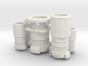 Guillemin coupling for fire truck scale 1/10 in White Natural Versatile Plastic