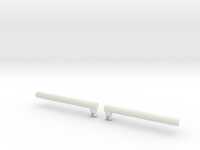 Optimus Leader Class Smoke Stacks (version B) in White Natural Versatile Plastic