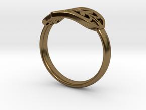 Hamsa Hand Ring in Polished Bronze
