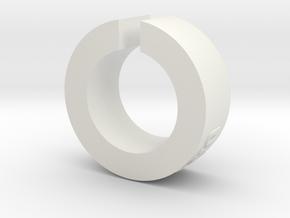 ServoSaver lightExtrLttrs CM in White Natural Versatile Plastic
