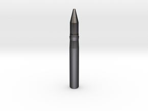 Bofors 40mm shell in Polished Grey Steel