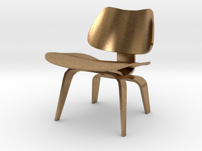 "Herman Miller Eames Molded Plywood Chair 3.1"" tall in Natural Brass"