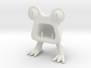 Horrible Monster Figurine in White Strong & Flexible