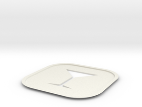 Martini Coaster  in White Natural Versatile Plastic