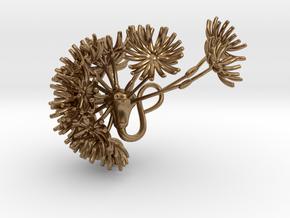 Dandelion pendant in Natural Brass