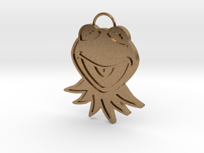 Gold Kermit Pendant in Natural Brass