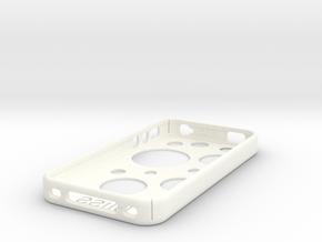 Iphone4S Case Template edit circles in White Processed Versatile Plastic
