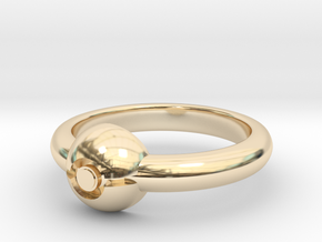 Pokeball Ring-Thin Band (Edit size in description) in 14K Yellow Gold