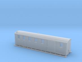 Komb. Personen und Gepäckwagen der MPSB (1:160) in Smooth Fine Detail Plastic