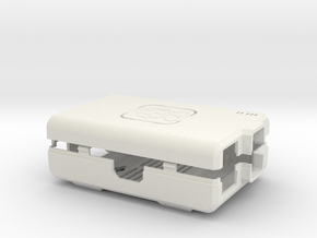 Raspberry Pi CASE 1.0 in White Natural Versatile Plastic