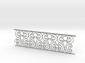 1:24 Ornate Railing in Metallic Plastic