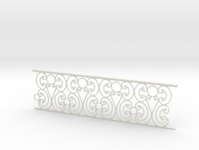 1:24 Ornate Railing in White Natural Versatile Plastic