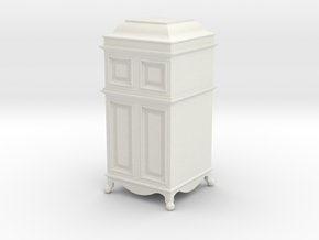 1:24 Grammophone Cabinet in White Natural Versatile Plastic