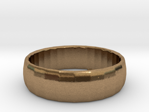 1001 facets braclet in Natural Brass