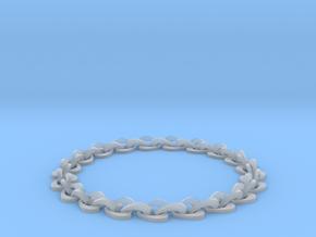 Heart bracelet in Smooth Fine Detail Plastic