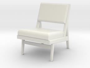 1:24 Jen Chair 1 in White Natural Versatile Plastic