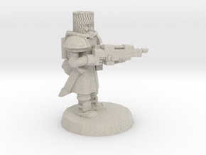 Space Cossack Trooper in Natural Sandstone