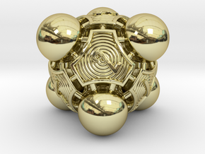 Nucleus D8 in 18k Gold Plated Brass