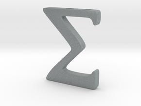 Sigma in Polished Metallic Plastic