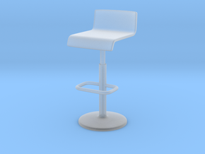 1:10 Scale Model - BarChair 01 in Smooth Fine Detail Plastic