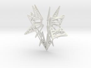 Lattice wing for shapeways in White Natural Versatile Plastic